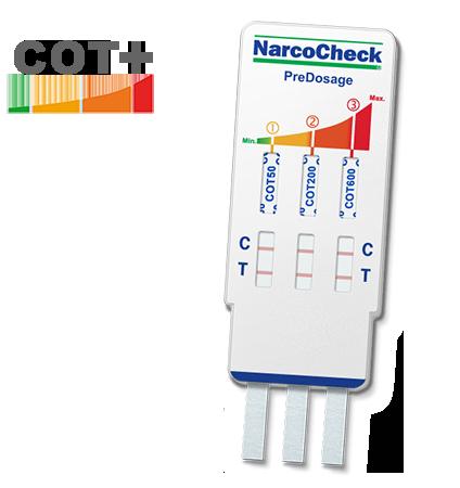 Test urinaire de Cotinine avec Pré-Dosage (NarcoCheck)