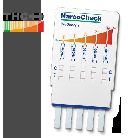 Test de Cannabis (THC) avec Pré-Dosage - 5 paliers